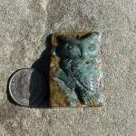 Carved Agate Owl Focal Bead..